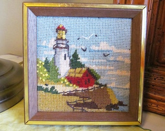SALE!  Was 12, now 9!  Lighthouse Needlepoint!