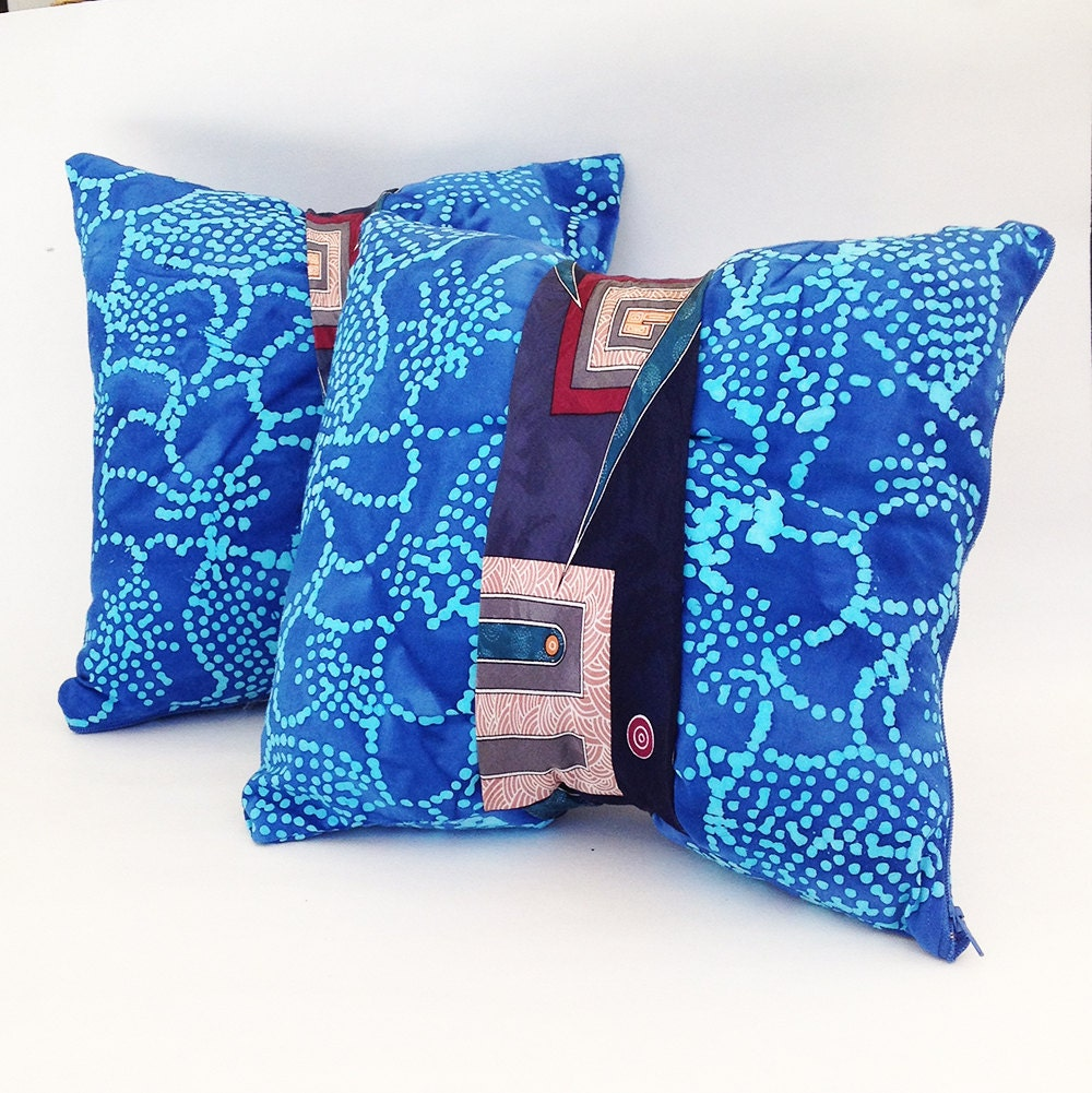 Unique throw pillows: Tie pillows batik pillows bohemian