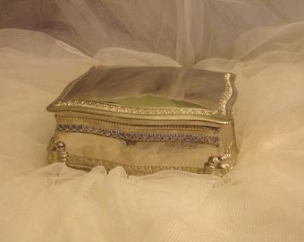 Vintage Silverplated jewelry box, vintage box, jewelry box