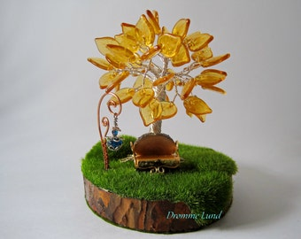 Eternal Autumn ~ OOAK Wire Tree Sculpture ~ Wow Inspired ~ Eversong Woods Inspired