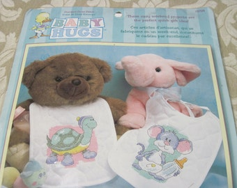 "Dimensions ""Cute Baby Bibs"" Stamped Cross Stitch Kit #72725"