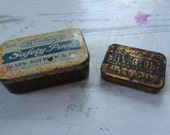 Antique Tin Safety Pin and Needle Cases