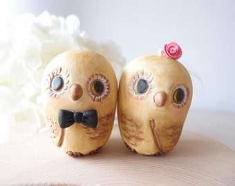 Custom Wedding Cake Toppers - Happiness Owls