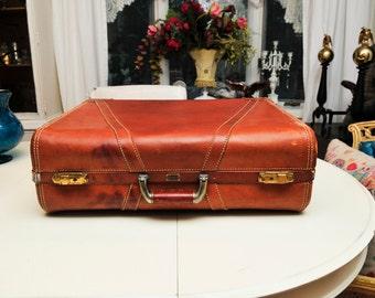 Vintage Leather Hartsman Luggage
