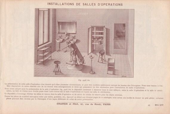 Articoli simili a antiquariato medico chirurgico catalogo for Arredamento ospedaliero