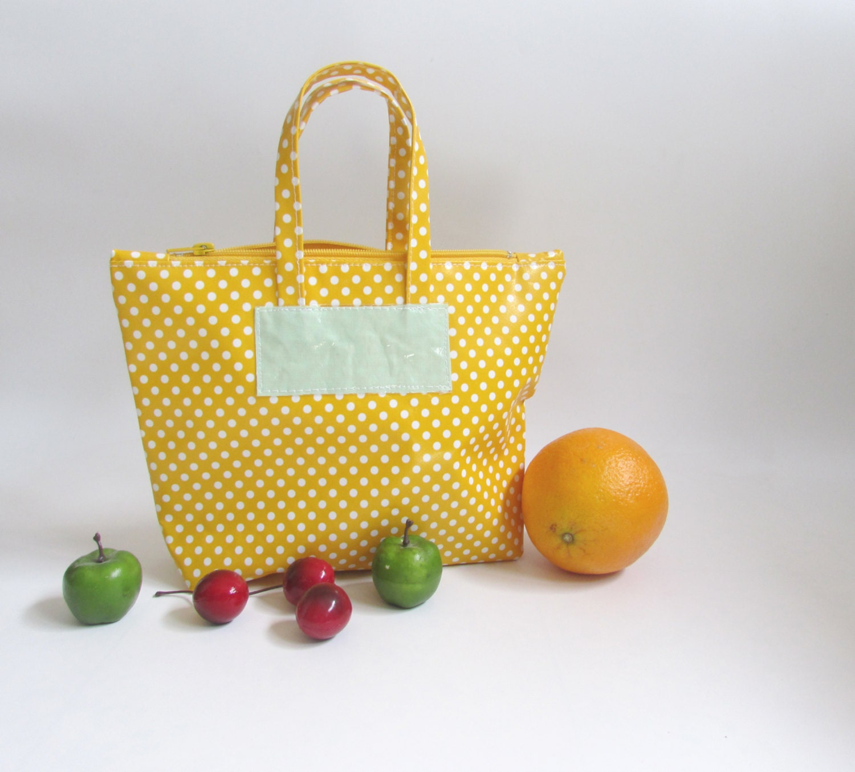 Reusable Lunch Bag Oilcloth Bag Food Storage Bag