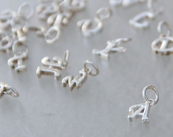 Silver charm monogram personalized Bridesmaid gifts Free US Shipping handmade Anni designs