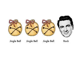 Jingle Bell Rock Hudson // set of 5 christmas cards