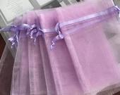"""30 pcs Organza bags, 4"""" x 6"""" organza bag , favor bag , jewel organza bag, Lavender  organza bags, wedding favor bags, lilac organza bags"""