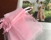 "30 pcs Organza bags, 4"" x2.75""organza bag, favor bag, jewel organza bag, white organzas bags,baptism favor bags,wedding favor bags,communuio"