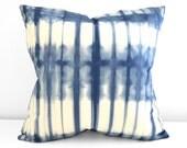 18x18 inch Marine Navy Shibori Pillow Cover