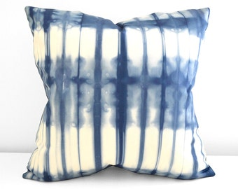 Marine Navy Shibori Pillow Cover