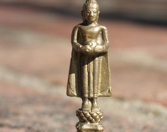 Unusual standing Buddha vintage amulet