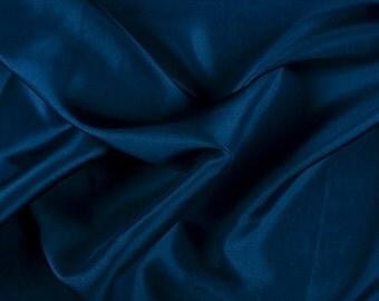 "45"" Wide 100% Silk Habotai Dark Blue-Wholesale by the Yard"