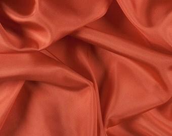 "45"" Wide 100% Silk Habotai Orange-Wholesale by the Yard"