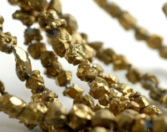 Gold Nugget Natural Honey Citrine Gemstone Rugged Pebble 8x6 MM Loose Beads 16 inch Full Strand (90113150-128)