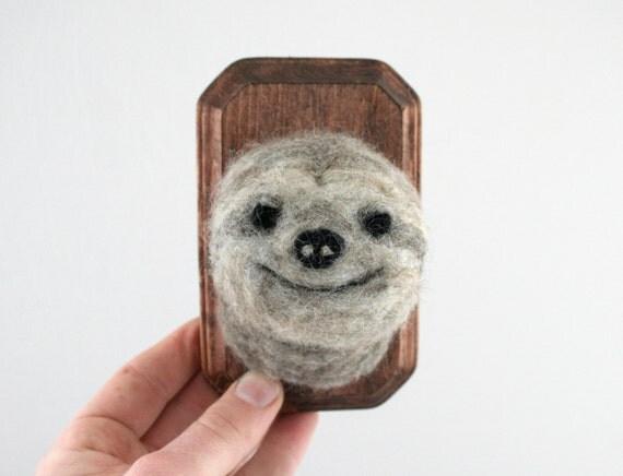 Faux Taxidermy Sloth (Bradypus variegatus)