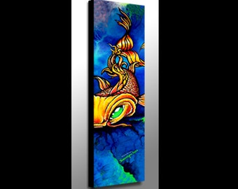 Koi Painting | Koi Art | Koi Fish Art | Tattoo Art | Canvas Print | Japanese Art | Fish Art | Spirit Animal | Spiritual Art | Modern Art