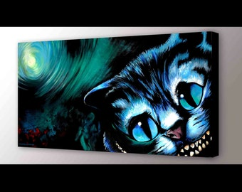 Cheshire Cat Art Print | Alice in Wonderland Wall Art | Disney Art | Cheshire Cat Print | Cheshire Cat Painting | Cheshire Cat Wall Art