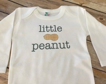Little peanut Baby One Piece or shirt (Custom Text Colors/Wording)