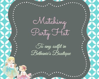 Matching Party Hat