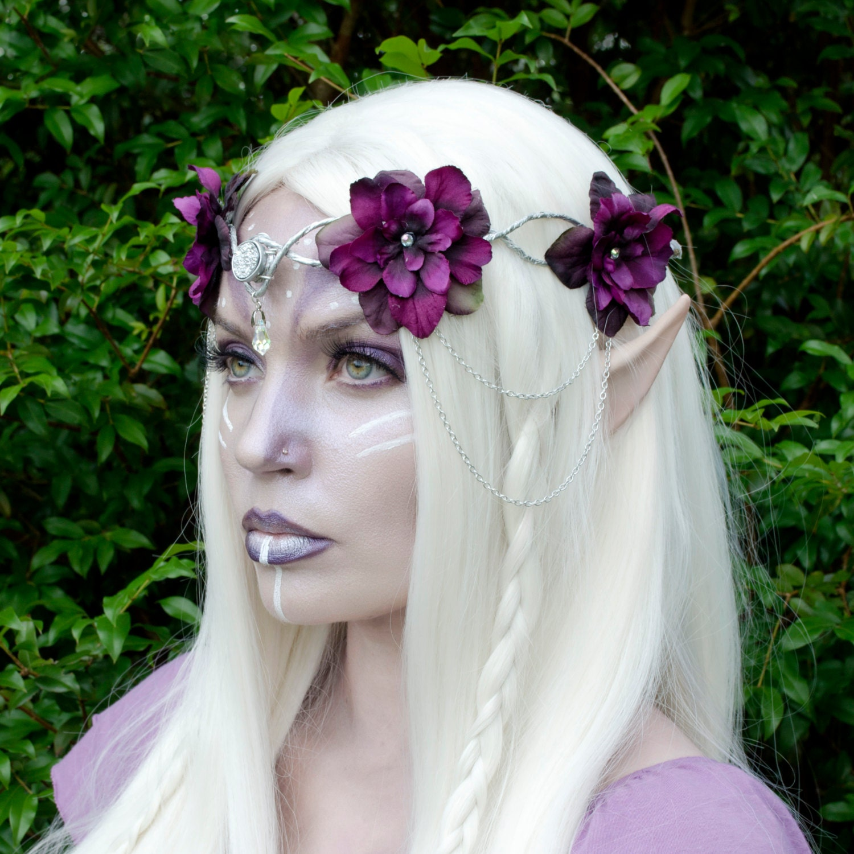 Flower Crown Purple: Purple Elven Flower Crown