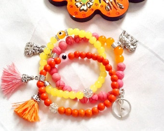 SALE-----YOGA BRACELET - 2015 spring style-Buddha bracelet -Gypsy bracelet -Boho bracelet -Meditation bracelet-Chakra bracelet-Yoga jewelry