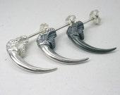 Large Owl Talon Ear Studs Sterling Silver