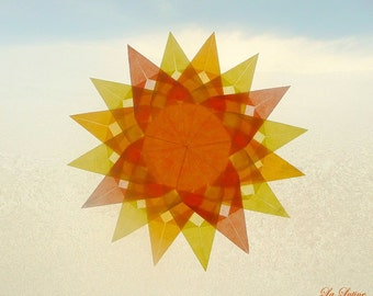 Sun Window Transparency - Summer Suncatcher Window Star Decoration - Waldorf Inspired