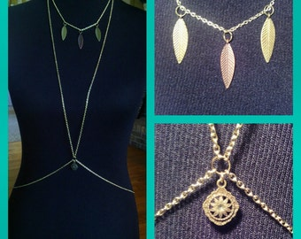 CLEARANCE Feather Necklace Body Chain