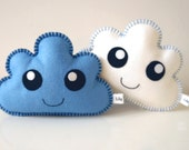 Cloud Softies - Kawaii Clouds set of two - Blue and White Clouds, Cloud Pillows, Baby Shower Gift, New baby gift