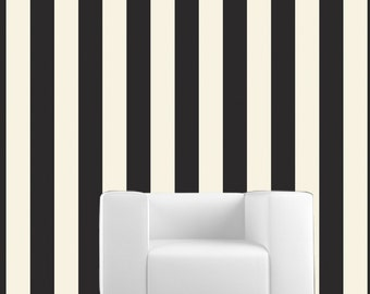 Stripes Couture Removable Wallpaper- PIANO- Peel & Stick Self Adhesive Fabric Temporary Wallpaper-Repositionable-Reusable