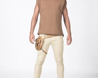 Original T-shirt long at the back!! Organic and stylish!! make you shoulder look bigger!! FUCK YEAH!!