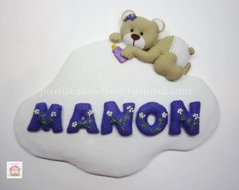Little bear on cloud sign (name banner)