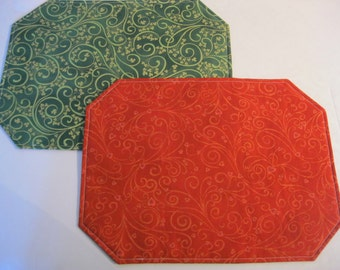 Valentine's Day/ St. Patrick's Day Placemats (Set of 4)