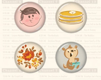 October Afternoon Saturday Mornings Tin Pins -- MSRP 4.00