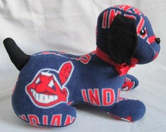 Cleveland Indian stuffed sports dog