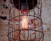 Hanging Lighting - Industrial Pendant Light - Ceiling Light - Rustic