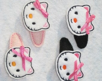 Kitty Hair Clips (One Set)