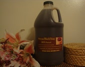 Unscented 1/2 Gallon Jug Organic Raw African Black Liquid Soap