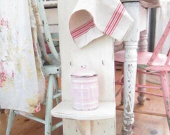 Vintage shelf Chippy white shabby chic  shabby chic cottage chic