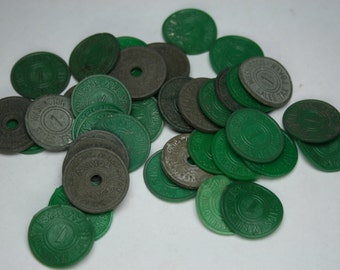 Vintage Washington State Sales Tax Tokens Lot