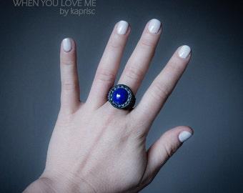 Lapis Lazuli Ring Macrame