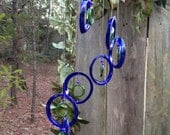 Glass Wind Chimes from RECYCLED bottles, eco friendly ,green, wind chime, garden decor, wind chimes, colorful , musical, home decor, mobile