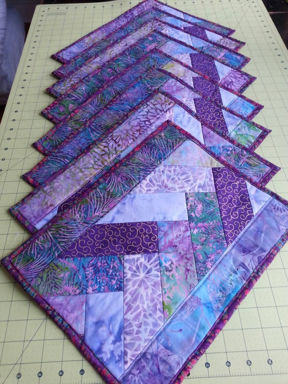 Items Similar To Sold Set Of Eight Quilted Placemats