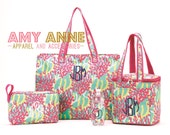 NEW Beach Bag Set Reef Collection Beach Tote Bag, Cosmetic Bag, Coozie, Cooler Buy Separate or Together as a Set Save