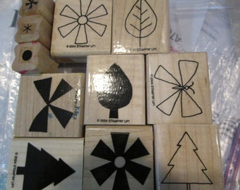 Retired Stampin' Up!  SHAPES AND SHADOWS Stamp set