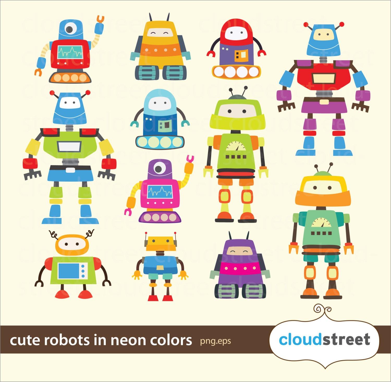 cute robot clipart - photo #39