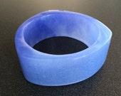 Periwinkle Blue Resin Bangle