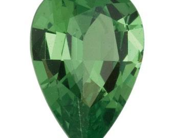 0.16 Ct Natural Green Tsavorite Garnet Gemstone Pear Size 4x3 mm Top Grade